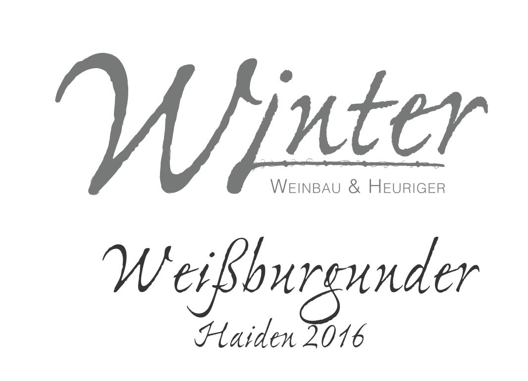 Weißburgunder Haiden 2016